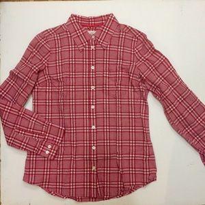 H&M Summer Seersucker Plaid Shirt